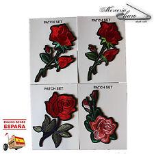 Parches rosas flor 4 tipos patch especial ropa chaqueta vaquera mochila bolso