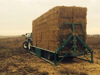 Bale Trailer hire Straw Hay Transport Tractor Trailer hire East Yorkshire