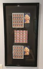 "1995 32c Marilyn Monroe & 1993 29c Elvis Stamps TTL Qty 60 Framed 16-1/2"" x 31"""