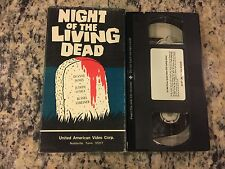 Night Of The Living Dead Uav United American Video Corp Vhs 1968 Horror Classic!