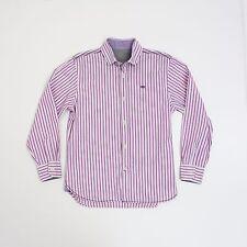 Next Boys 10 yrs Pink stripe Long Sleeve Shirt