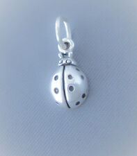 Sterling Silver Small Tiny Ladybug Charm, Mini Gardener Charm, Made in USA