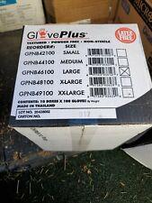 Gpnb Ammex Gloveplus Black Nitrile Industrial Gloves 5-Mil S-Xxl 100/Box 1000/Cs