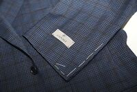 #186 CANALI  13290 100% Wool Check Fabric Blazer Suit Jacket Size 48 R