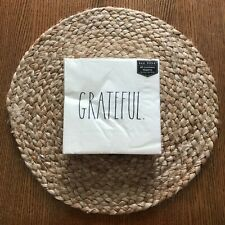 """Rae Dunn GRATEFUL Luncheon Napkins Set Of 40 NWT 13"""" Square Three Ply"""