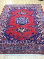 "6'2"" x 7'8"" Turkish Tribal Oriental Rug - Full Pile - Hand Made - 100% Wool"