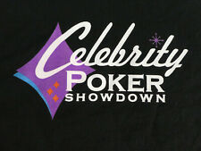 CELEBRITY POKER SHOWDOWN Shirt Bravo TV Black Tee Preshunk NWOT
