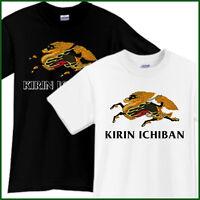 KIRIN ICHIBAN Beer T-Shirt Brewery Ale Promo Black White TShirt Tee Size S-2XL