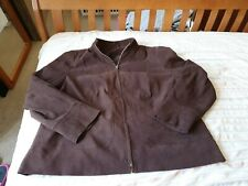 Evan's Women's Chocolate Brown Faux Suede Jacket Size 22