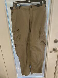 Magellan Outdoor Fish Gear men's Pants Size Large Mag Repel Khaki Cargo