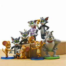 Tom And Jerry Figure Toys Cartoon Cat & Mouse Set of 9pcs Anime Cake Topper TOY