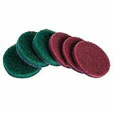 """6pc Drill Brush Replacement Scour Pads 4"""" for Tub & Tile Power Scrubber Driver"""