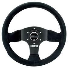 Sparco 300 Race/Rally/Saloon Steering Wheel - Black Suede - 300mm Diameter