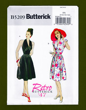 Vintage Retro '47 Halter Dress Sewing Pattern (Sizes 6-12) Butterick 5209
