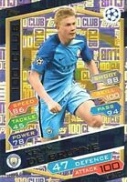 2016/17 MATCH ATTAX CHAMPIONS LEAGUE 100 CLUB KEVIN DE BRUYNE MAN CITY HUNDRED
