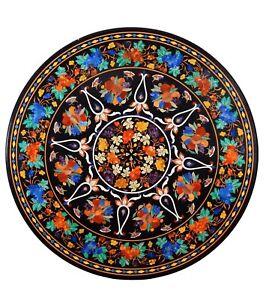 """48"""" round Marble center Table Top Pietra Dura Inlay Work handicraft art"""