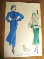 18 VINTAGE FASHION DRAWINGS DATED 1932 POSSIBLY ROBERT SIMPSON CO. UNIQUE !