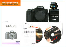 Canon EOS 7D REFLEX DIGITALE CORPO, Battery Charger + GRATIS UK