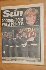 7 day coverage in the Sun of Princess Diana's Death + Funeral 20 years ago