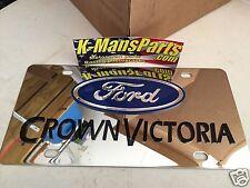 Ford Crown Vic Victoria stainless steel vanity license plate tag