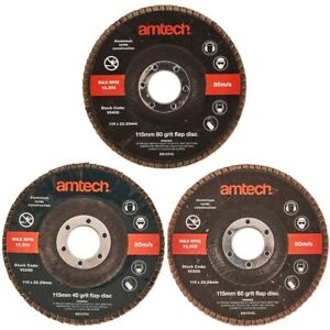 115MM FLAP DISCS 40 60 80 Grit Coarse Angle Grinder Metal Wood Sanding Wheels