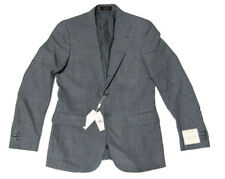 Double Ralph Lauren RRL Mens Italy Grey Wool Slim Stripe Sportcoat Blazer Jacket