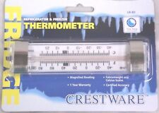 REFRIGERATOR FREEZER THERMOMETER -40 to 80  Rectangular with Clip Cooler Walk-in