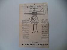 advertising Pubblicità 1962 GANCI DI TRAINO V. ORLANDI - BRESCIA