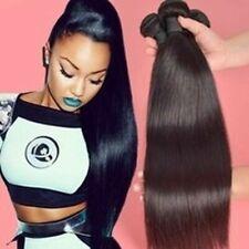 3Bundles 150g Straight Hair Wave Virgin Extensions 100% Brazilian 7A Human Hair