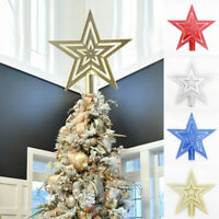 Christmas Tree Star Topper Ornament Home Xmas Party Festival DIY Decor Supply