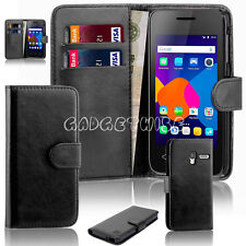 Luxury Wallet Leather Case Smart Slim Back Cover For All Alcatel Phone Cell Pixi