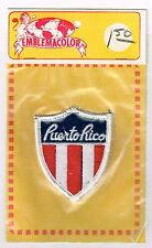 VINTAGE SOUVENIR TRAVEL PATCH PUERTO RICO MADE IN PUERTO RICO
