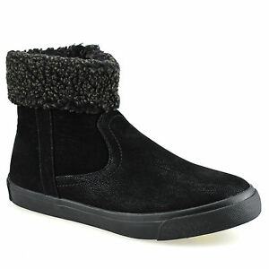 Ladies Womens Warm Fur Lined Zip Up Walking Winter Snow Ankle Boots Shoes Size