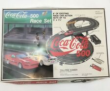 Vintage 1990 Coca-Cola 500 Race Set Daisy Road & Track Slot Car Racing Toy Game
