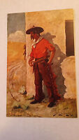Western Postcard John Innes Artist The Bad Man Pre-Linen Antique 1907 vtg
