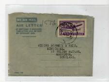 INDIA: 1951 Air Letter to Scotland (C47657)