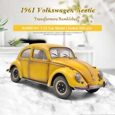 Limited SUNSTAR 1:12 Car 1961 Volkswagen Beetle Saloon Transformers Bumblebee