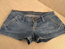 Abercrombie and Fitch Girls/Ladies Short Denim Stretch Shorts Size 00