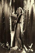 """1931 GRETA GARBO Glamorous Film Star as Mata Hari 4""""x6"""" Sepia Reprint"""