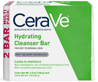 2 Pack Hydrating Cleansing Bar Each Soap Free Alternative Non-Irritating 4.5 Oz