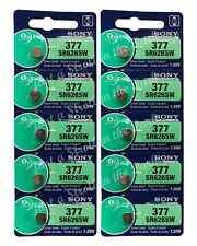 10 SONY 377 SR626SW SR66 1.55V Silver Oxide Watch Battery Exp 2018 USA FREE SHIP