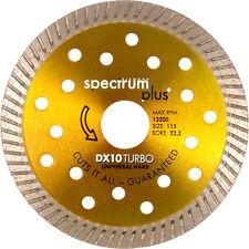 NUOVO spettro DX10 Turbo Diamante Lama 230 x 22,2 mm ciascuno