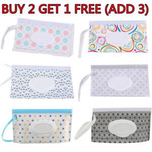 Baby Wet Wipe EVA Pouch Wipes Holder Cases Reusable Refillable Bag UK STOCK