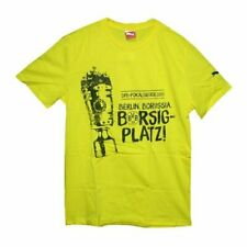 PUMA Borussia Dortmund BVB Men's Club T-Shirt - Large - Yellow - New