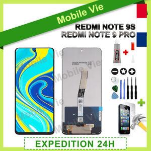 ECRAN LCD + VITRE TACTILE POUR XIAOMI REDMI NOTE 9S / NOTE 9 PRO NOIR + OUTILS