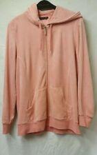 women velvet pyjama set pink size XL,hodded,2 piece