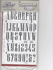 """Musical interlude font Club Scrap Unmounted Rubber Stamp Sheet 8 1/2 x 6"""""""
