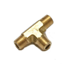 1/8 Npt Male Tee T 3 Way Equal Pipe Brass Fitting Fuel Vacuum Air Water Oil Gas