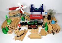 100 Piece Wooden Train Bundle and Vehicles Scenery Spares Brio ELC compatible