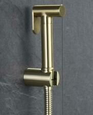 Newly Brushed Gold Toilet Solid Brass Handheld Shower Spray&Hose&Holder Kit